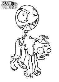 Plants vs zombies coloring pages balloon zombie - ColoringStar