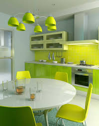 Green And Yellow Kitchen Mural Of Color Your Modern Minimalist Kitchen With Soft Light