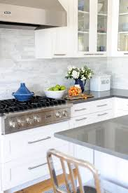 This Is It White Cabinets Subway Tile Quartz Countertops Pertaining