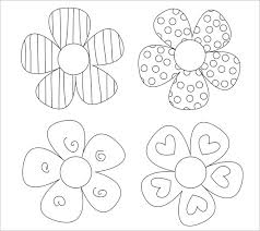 Paper Flower Pattern Enchanting 48 Paper Flower Templates PDF DOC PSD Vector EPS Free