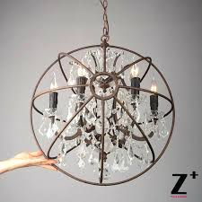 stunning crystal and metal orb chandelier popular lots from china rustic wooden full size
