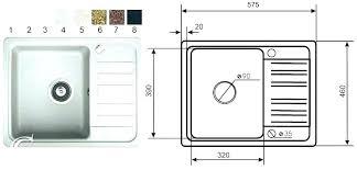 average kitchen sink size typical standard dimensions cm design