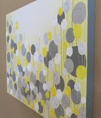 yellow and grey pictures yellow and grey wall art textured painting abstract flowers acrylic painting on
