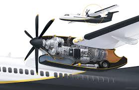 Turboprop Engine Cutaway | James Provost - Technical Illustrator