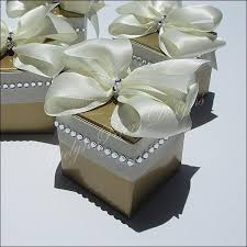 Elegant Gold And Ivory Rhinestone Wedding Favor Boxes  Jaclyn Peters Party