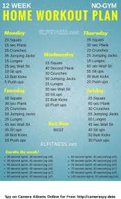 whether your goal is to lose weight gain muscle or get fit check out our men s and women s workout plan no equipment needed this workout plans is great