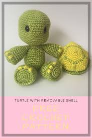 Free Crochet Turtle Pattern Enchanting Crochet Turtle With Removable Shell Pattern Hooking Dreams