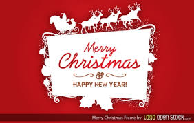 Christmas Logo Frame Vector Free Download