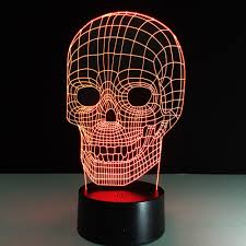 Solar Skeleton Lights 2019 Changing 3d Hologram Illusion Skeleton Skull Lamp Acrylic Led Night Light With Touch Switch Luminaria Home Decor Lights Table Lamp From Joe_yang