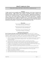 speech pathologist resume template bongdaao com