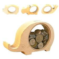 wooden animals money saving box best gifts for kids elephant piggy banks coins bank transpa whale wooden coin bank
