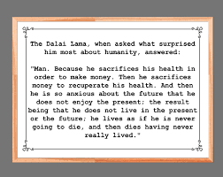 Dalai Lama Quote When Asked What Surprised Him Motivational Poster Inspirational Quotes Meaning Of Life Wall Art Home Decor Dalai Lama Print