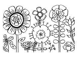 Tropical Flowers Stained Glass Coloring Book Hand Drawn Spring Color