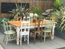 shabby chic outdoor furniture. Shabby Chic Patio Furniture Vintage Table With 8 Eclectic More Garden Outdoor C
