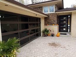 aluminum tinted glass garage door