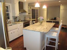White Cabinets With Granite Countertops DIY Kitchen White Ish - Granite countertop kitchen