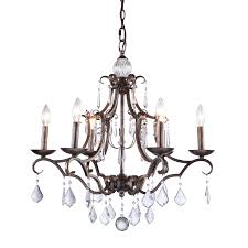 artcraft lighting vintage 25 in 6 light distressed bronze vintage candle chandelier