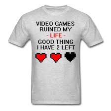 Video Games Ruined My Life Funny Quote Men S T Shirt Print Tee Men Short Sleeve Clothing Printed T Shirt Summer Men S