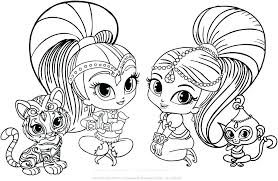 Coloring Pages Shimmer And Shine Coloring Pages To Print Online