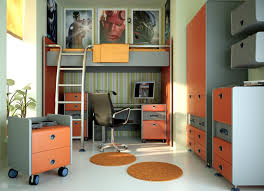 boy bed furniture. Cool Bedroom Ideas For Boy Teenagers : Fabulous Orange And Silver Laminate Furniture Bed R