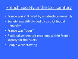 french rev french society in the 18th century