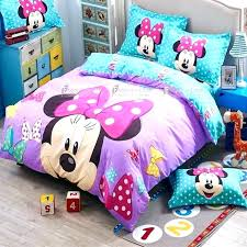 luxury mickey mouse bedding queen size or full comforter minnie set twin bed sets ideas