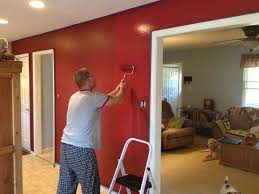 Simple Dining Room Paint Ideas With Accent Wall Cabin Red Walls In Kitchendining Intended Design Decorating