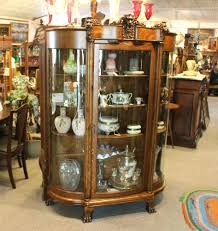 antique curio cabinets cabinet with desk curved glass value toronto