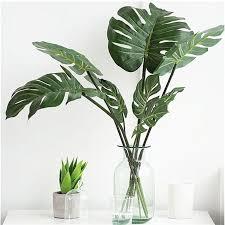 <b>10Pcs</b> Artificial <b>Palm</b> Fern Turtle Leaves Plastic Silk <b>Fake Plant</b> Leaf ...