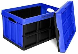 Clever Crates Really Useful Boxes, Blue, 46 Litre, <b>Collapsible</b> ...