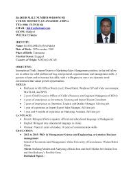 RAVELOMANANA FIDELYS RESUME FOR INTERNATIONAL SALES. BAQI ER MALU NUMBER 98  ROOM 301 YUEXIU DISTRICT, GUANGZHOU, CHINA TEL: 0086 ...