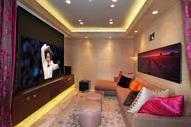 lighting ideas ceiling basement media room. Basement Home Theater Ideas Contemporary With Tray Ceiling Lighting Control Media Room D