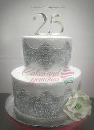 Silver Sugar Laced Wedding Anniversary Cake Cakes And Memories