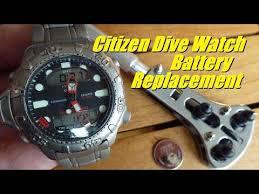 Citizen Watch Battery Replacement Chart Citizen Promaster Dive Watch Battery Replacement Youtube