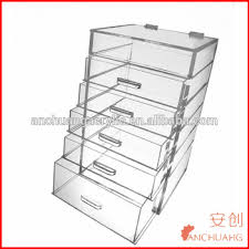 tiered acrylic makeup organizer drawers storage conners