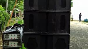 speakers in box. three 18 speaker power amplifiers with boxes and two 12 speakers in the field box