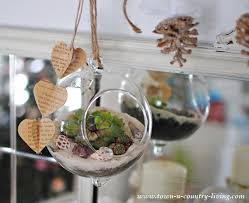 how to make your own hanging globe terrarium