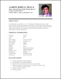 Resume Sample Format Stunning Resume Examples Format Resume Sample Format For In Resume Sample