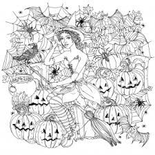 Small Picture Halloween Coloring pages for adults JustColor