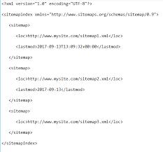 sitemap index exle