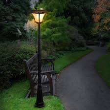 image of elegant solar light lamppost ideas
