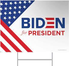 L84WORK Biden 2020 Biden Yard Sign 12 x 18 Corrugated Plastic Joe Biden  Harris 2020 Yard Sign with Stakes H-Frame Ground Stake Sign Holder Patio,  Lawn & Garden Yard Signs
