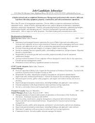 Resume Examples For Operations Manager Resume For Study