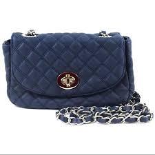 Cheap Crossbody Bag Chain Strap, find Crossbody Bag Chain Strap ... & Get Quotations · Navy Blue Quilted Faux Leather Crossbody Handbag Bag Purse  W/ Metal Chain Strap Adamdwight.com