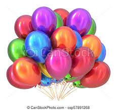 Balloon Birthday Invitations Balloons Birthday Party Decoration Multicolored Balloon Bunch