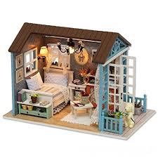 dollhouse miniature furniture. Plain Dollhouse Cuteroom Dollhouse Miniature DIY Dolls House Room Kit With Furniture  Handicraft Xmas Gift Forest Time  GWX09MZRJ And L