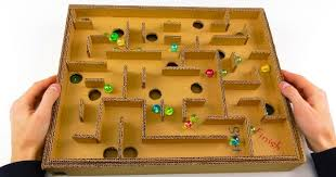 How To Make Wooden Games How to Make Board Game Marble Labyrinth from Cardboard Sia Magazine 70