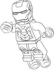 Nouveau Coloriage Lego Avengers Iron Man