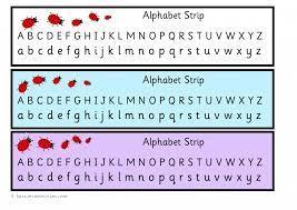 ladybird alphabet chart strip upper