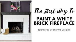 how to paint a fireplace white with sherwin williams
